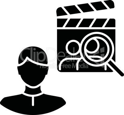 Casting director black glyph icon