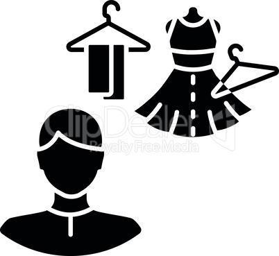 Costume director black glyph icon