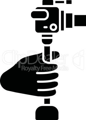 Lightweight minicamera black glyph icon