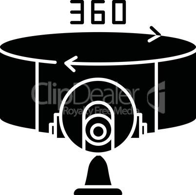 VR camera black glyph icon