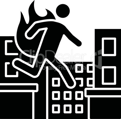 Stuntman black glyph icon