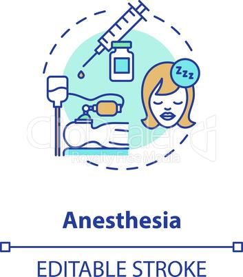 Anesthesia concept icon