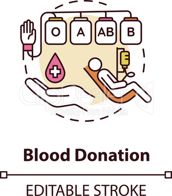 Blood donation concept icon