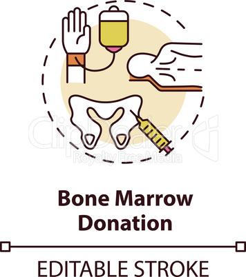 Bone marrow donation concept icon
