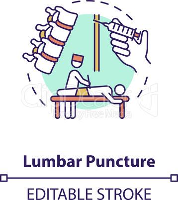 Lumbar puncture concept icon