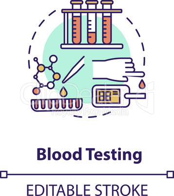 Blood testing concept icon