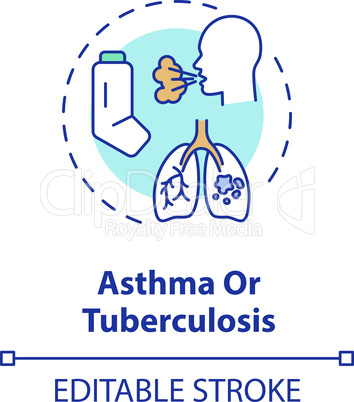 Asthma and tuberculosis concept icon