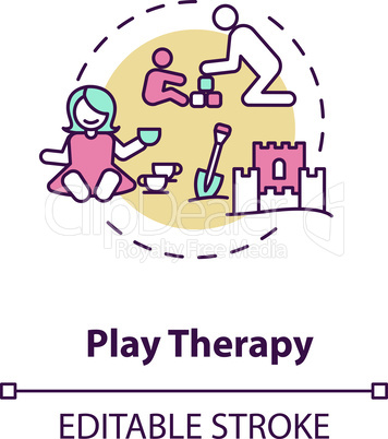 Play therapy concept icon