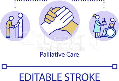 Palliative care concept icon