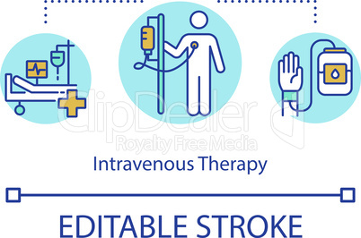 Intravenous therapy concept icon