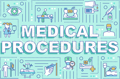 Medical procedures word concepts banner