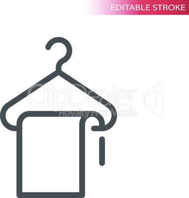 Hanger and a cloth line vector icon