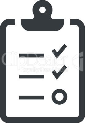 Clipboard checklist black vector icon
