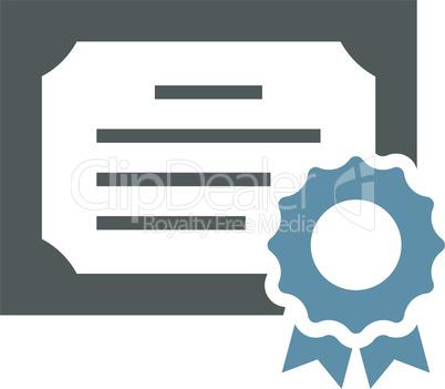 Diploma paper black vector icon