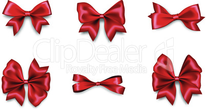 Holiday satin gift bow knot ribbon red