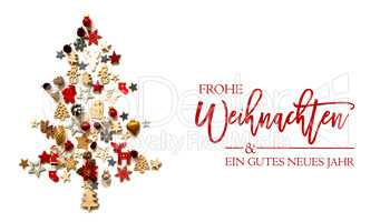 Christmas Tree, Decoration And Ornament, Frohe Weihnachten Means Merry Christmas