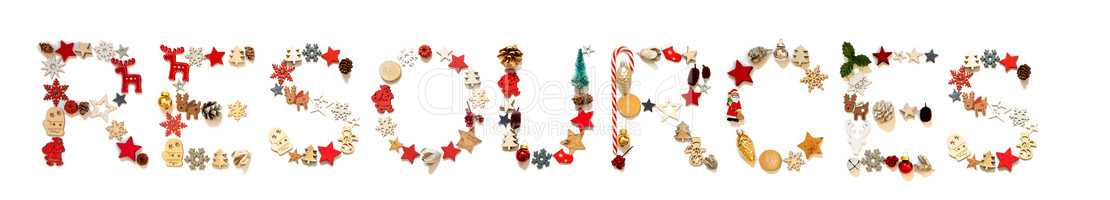 Colorful Christmas Decoration Letter Building Word Resources