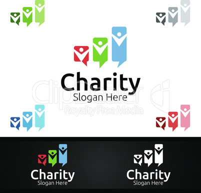 Review Helping Hand Charity Foundation Creative Logo for Voluntary Church or Charity Donation
