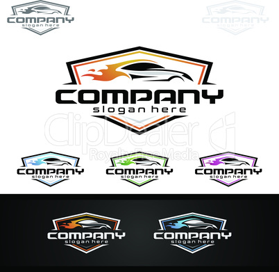 Car Service Logo with Car and repair Concept