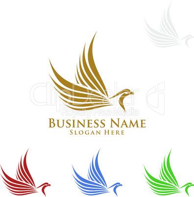 Eagle Logo, vector Wild eagle Bird Falcon Hawk isolated on a white background