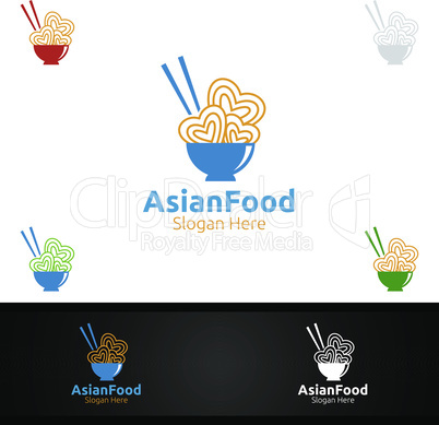 Asian Food Logo for Nutrition or Supplement Concept
