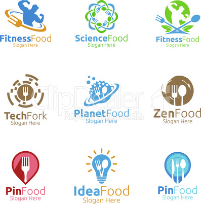 Healthy Food Logo for Fitness, Restaurant or Cafe