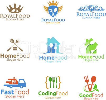 Food Logo for Courier, Restaurant or Cafe