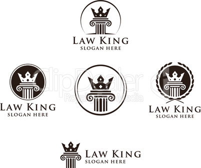 Law and Attorney Firm Vector Logo Design
