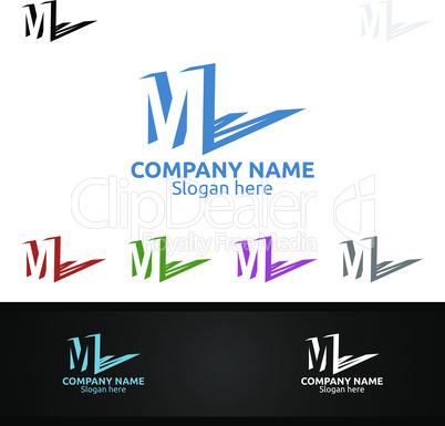 Letter M for Digital Logo, Marketing, Financial, Advisor or Invest Design Icon