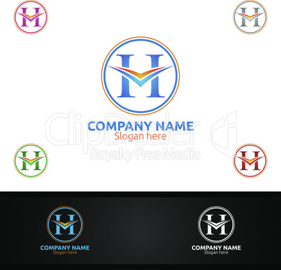 Letter H for Digital Logo, Marketing, Financial, Advisor or Invest Design Icon
