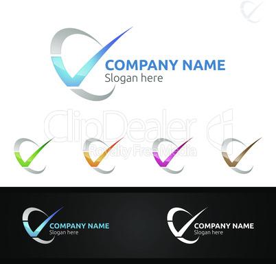 Letter V for Digital Logo, Marketing, Financial, Advisor or Invest Design