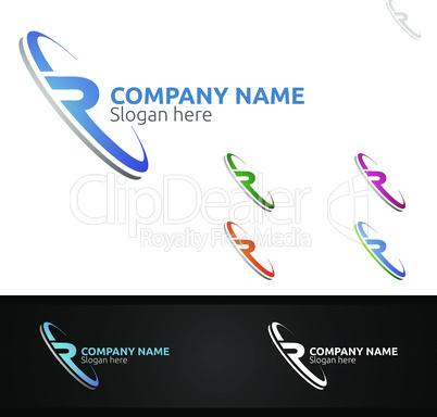 Letter R for Digital Logo, Marketing, Financial, Advisor or Invest Design