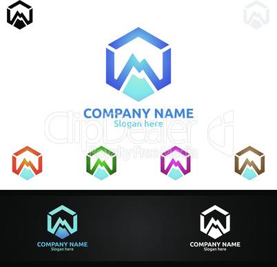 Letter M for Digital Logo, Marketing, Financial, Advisor or Invest Design