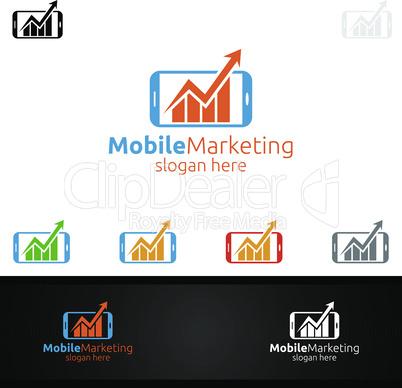 Mobile Marketing Financial Advisor Logo Design Template Icon
