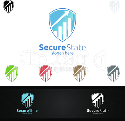 Secure Marketing Financial Advisor Logo Design Template