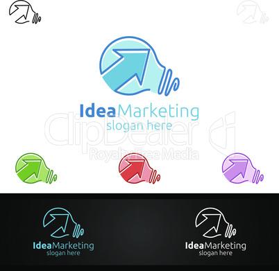 Idea Marketing Financial Advisor Logo Design Template