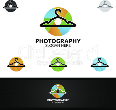 Fashion Camera Photography Logo Icon Vector Design Template