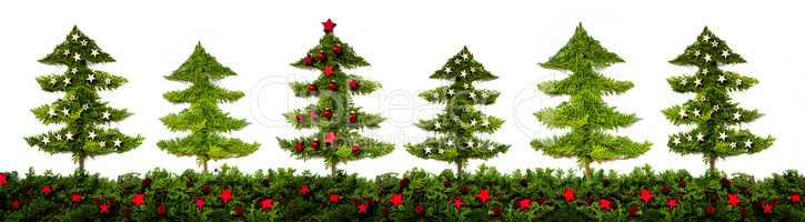 Panorama Of Christmas Tree Pattern And Texture, Fir Branches