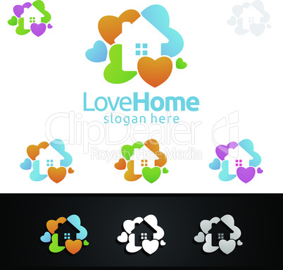 Home Painting Vector Logo Design