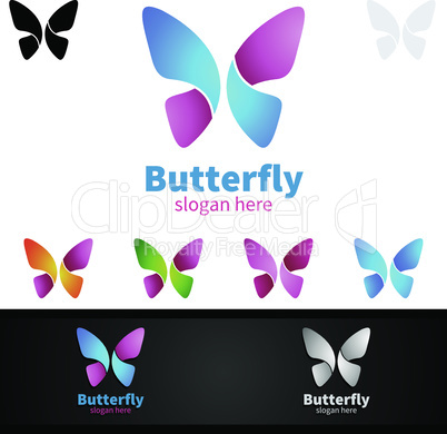 Butterfly Colors Logo Design