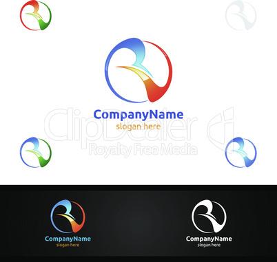 Letter V,R, VR for Digital Logo, Marketing, Financial, Advisor or Invest Design Icon
