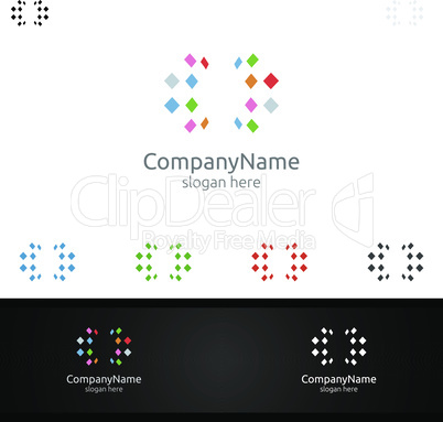 Digital Agency Financial Services Insurance Business Investment Vector Logo Design