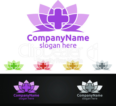 Natural Cross Medical Hospital Logo for Emergency Clinic Drug store or Volunteers Concept