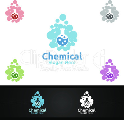 Chemical Science and Research Lab Logo for Microbiology, Biotechnology, Chemistry, or Education Design Concept