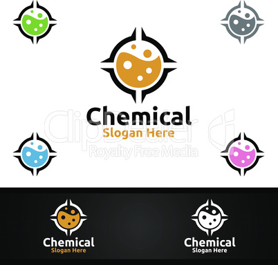 Target Chemical Science and Research Lab Logo for Microbiology, Biotechnology, Chemistry, or Education Design Concept
