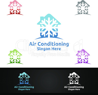 House Snow Air Conditioning and Heating Services Logo