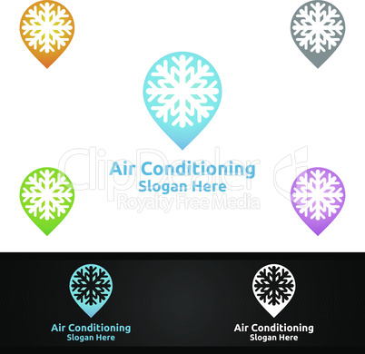 Pin Snow Air Conditioning and Heating Services Logo