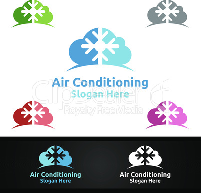 Cloud Snow Air Conditioning and Heating Services Logo