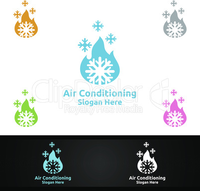 Hot Snow Air Conditioning and Heating Services Logo