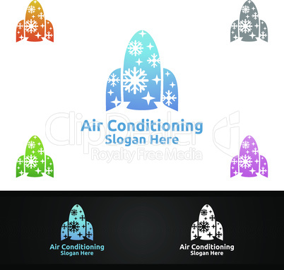 Rocket Snow Air Conditioning and Heating Services Logo
